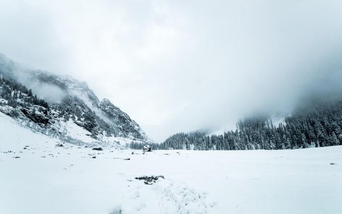 Winter whiteout in Lidderwat