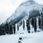 Hiking in Kashmir in bad winter weather