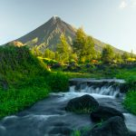 Getting a clear view of Mount Mayon in the Philippines