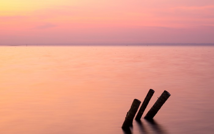 Sunrise on the vembanad lake