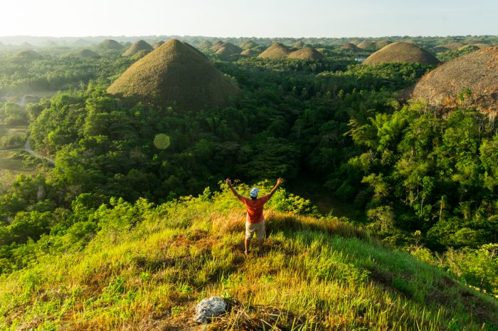 Sunrise on one of the Chocolate hills